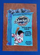 2016 Wacky Packages Ans14 Leather 79 Biloxie Shuckers Cereal /3 @@ Rare @@