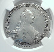 1770 Russia Antique Silver Catherine Ii The Great Russian Rouble Coin Ngc I81183