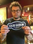 Calso Oil Gas Sign Diecut Sign Porcelain Sign Door Push Sign Pump Plate 2