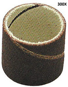 Gyros 11-84086/300 Sanding Bands 1/4-inch Diameter By 1/2-inch, 80 Grit, 300-pac
