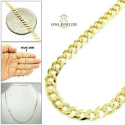 Mens Womens 3mm 14k Yellow Gold Cuban Curb Link Chain Necklace 16-30 Inches