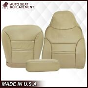 2000-2001 Ford Excursion Limited Xlt Synthetic Leather Seat Covers In Tan