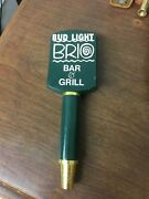 Bud Light Brio Bar And Grill Beer Tap Handle Nice