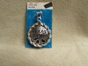 Vintage Crea Dand039or Sterling Silver Merry Christmas Disk Charm With Rope Trim