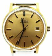 18k Yellow Gold Omega Geneve Mechanical Automatic Watch 43.0 Grams