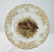 Kpm Finest 9 3/4 Plate With Male And Female Birds Incredible Detail And Quality