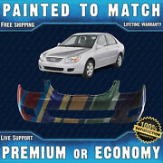 New Painted To Match - Front Bumper Replacement For 2007-2009 Kia Spectra Ex Lx