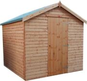 Pinelap Quality Wooden Apex Garden Shed Fully Tandg Apex Euro Hut - Fully Tandg