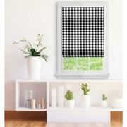 Achim Black Cordless Light Filtering Easy Care Polyester Roman Shades 33 X 64in