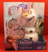 Disney Frozen Doll Figure Olaf The Snowman Pull Comes Apart
