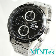 Tag Heuer Carrera Cv2010-3 Black Dial Automatic Stainless Menand039s Watch [b1103]