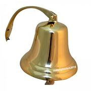Nautical Solid Brass Maritime Antique Ship And Titanic Bell Hanging Wall Decor