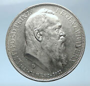 1911 Germany Bavaria Otto I W Luitpold Antique Silver 3 Marks Coin I73862