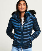 Superdry Womens Hooded Luxe Chevron Fuji Jacket