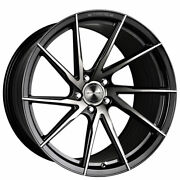 4ea 22 Staggered Stance Wheels Sf01 Gloss Black Tinted Face Rims S1