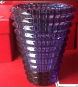 Baccarat Eye Vase Midnight Flower Crystal Unused Mint From Japan F/s A1