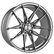 4ea 20x9/11 Staggered Vertini Wheels Rfs1.8 Brushed Silver Rims S1