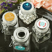 25-96 Personalized Monogram Apothecary Candy Jar - Wedding Shower Party Favor