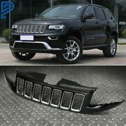 Front Bumper Honeycomb Mesh Grille Grill For 14-16 Jeep Grand Cherokee Srt8 Type