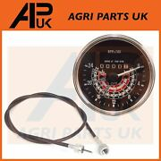 Tractoc Tachometer Tacho Rpm Rev Gauge Clock And Cable For Massey Ferguson Tractor
