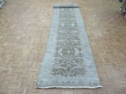 4'2 X 19'6 Xl Runner Hand Knotted Chocolate Brown Oushak Oriental Rug G7891