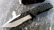 Tanto Fast Easy Assist Open Knife Black Legal Budget Edc Deep Carry Pocket Clip