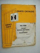 Original International Cadet Riding Mowers And Equipment Parts Catalog Manual 1968