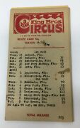 King Bros 3 Ring Circus 1975 Route Cards 11 Winter Park Florida