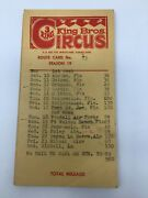 King Bros 3 Ring Circus 1973 Route Cards 17 Winter Park Florida