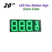 20 Led Gas Station Electronic Fuel Price Sign Green Color Motel Price Sign