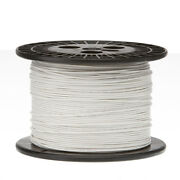 14 Awg Gauge Solid Hook Up Wire White 1000 Ft 0.0641 Ul1007 300 Volts
