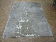 9and0391 X 12and0391 Hand Knotted Fine Modern Abstract Oriental Rug With Silk G8210