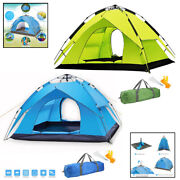 Automatic Pop Up Camping Tent Dual Layer Fabric Outdoor Sleeping Gear | 2 People