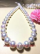 Australia Top 1713-16mm Real Natural South Sea Round White Pearl Necklace 14k
