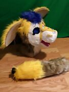 Fursuit Cosplay Sparkle Dragon. Head And Tail
