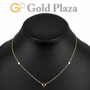 And Co. Open Heart Diamond Necklace K18pg Rose Gold Elsa Peretti
