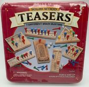 Vintage Teasers 7 Different Brain Busters Cardinal Peg Game 2001 Tin Box