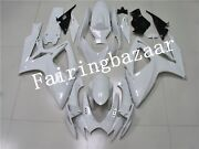 Fit For 2006 2007 Gsxr600 Gsxr750 Pearl White Abs Plastic Injection Fairing Kit