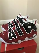 Nike Air More Uptempo Bulls Sz 8.5 Asia Pack Olympic Pippen Suptempo Chicago 96
