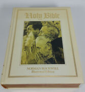 Holy Bible King James Red Letter Edition Norman Rockwell Illustrated Vintage