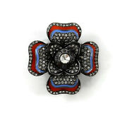 Henri Bendel Hibiscus Barette Clip In Hair And Pin Wearable On Clothingl@@k
