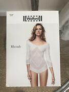 New - Wolford Rhomb Body White Size M Randeacutef 76053 Sold Out
