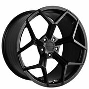 4ea 20 Staggered Stance Wheels Sf06 Satin Black Rims S3
