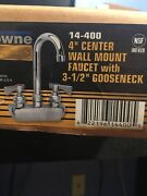 Krownd 4 Center Wall Mount Faucet With 3 1/2 Goose Neck