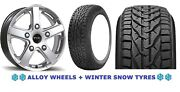 18 S Viper Alloy Wheels + Snow Tyres Ford Transit Sport Kombi High Roof 5x160