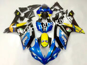 Fit For 2007 2008 Yzf R1 Blue Yellow Black Rossi Shark Abs Injection Fairing Kit