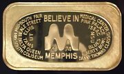 Crs-2g Believe In Memphis 999 Silver 1 Troy Oz Bar Tennessee Gp Mintage 25 Sn19
