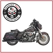 Scarico Bassani Nero Dual Down Under System 09 - 16 Harley Touring