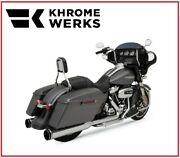 Scarico Khrome Werk Cromo + Nero 2 In 1 System Two Step 17 - 19 Harley Touring