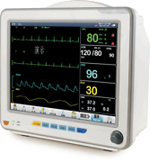Portable Patient Monitor Tft Lcd Screen Multi Channel Waveform Display